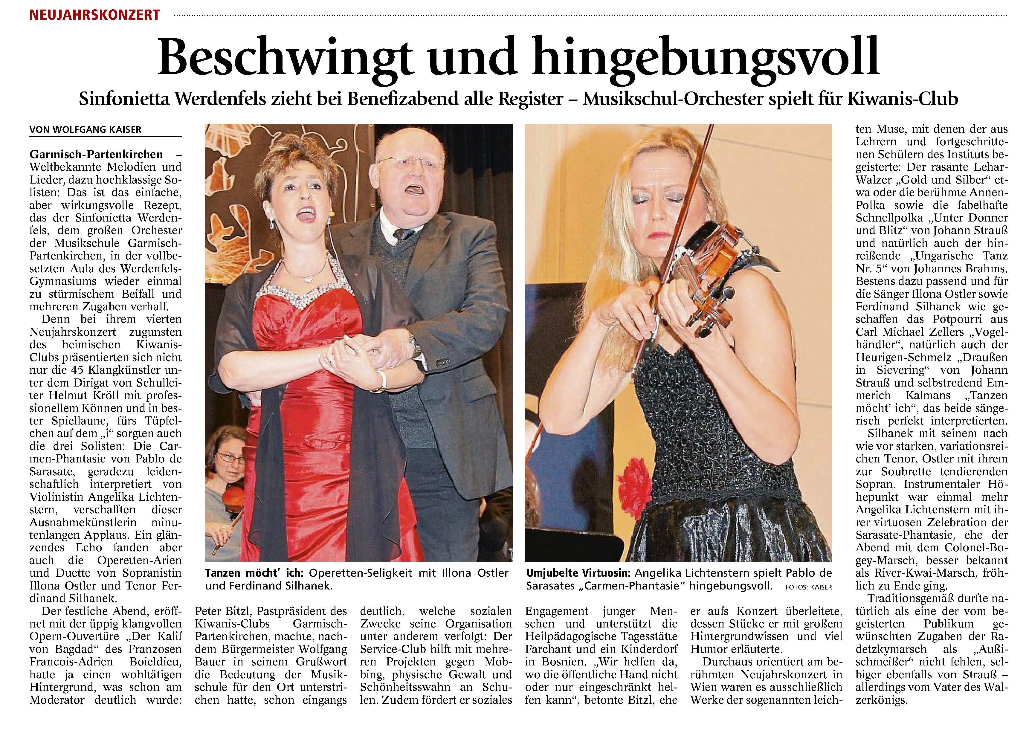 Garmisch-Partenkirchner Tagblatt, 11. Januar 2016
